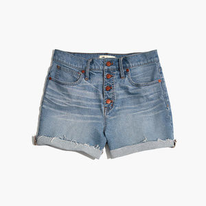 Madewell High-RIse Denim Shorts: Button Front